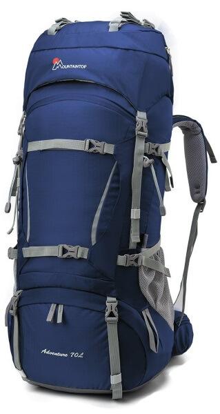 70-Liter-Trekkingrucksack für Erwachsene, bietet viel Stauraum für Trekking-Ausrüstung